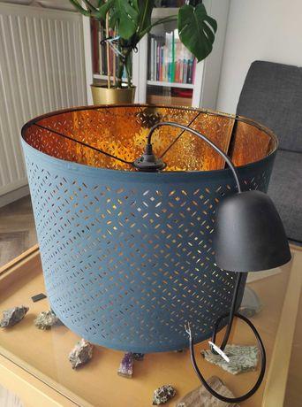 Ikea Nymo niebieski klosz 44cm z oprawką - stan idealny!