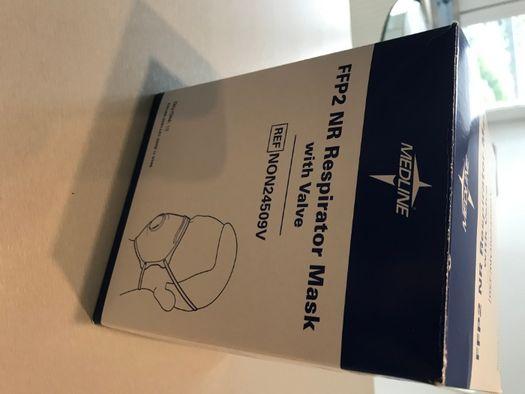 10x maseczka ochronna z filtrm FFP2 i zaworem Medline USA