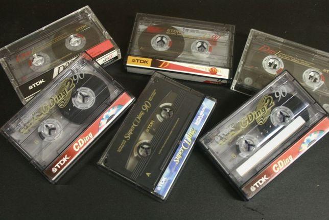 Zestaw 6szt. Kasety Magnetofonowe TDK D90 i CDing 90 Chrome /Wysyłka!