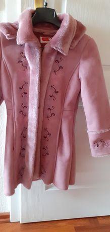 Płaszczyk płaszcz kożuszek dla dziewczynki 128