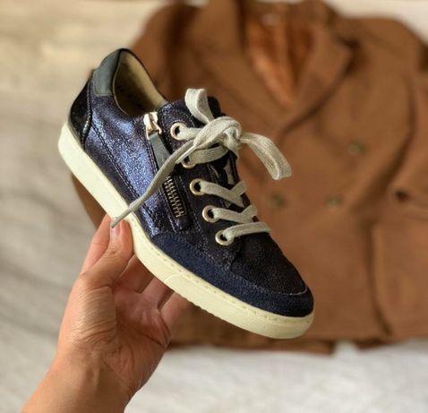 Женские стильные кожаные кроссовки Paul Green р.36 кеды