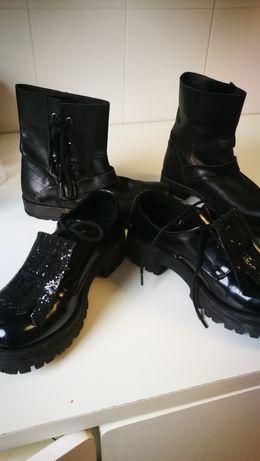 Botas de menina 100 % pele e sapatos