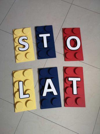 Napis LEGO urodzinowy STO LAT