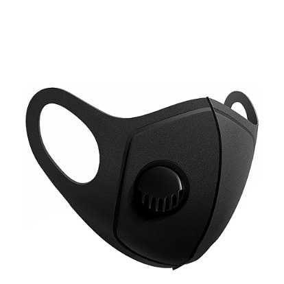 Многоразовая маска Pitta с клапаном выдоха. Черная