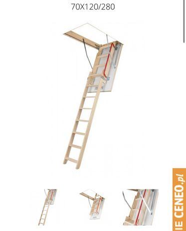 Schody strychowe ole 70x120x280