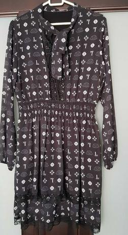 Sukienka we wzorki rozmiar 40