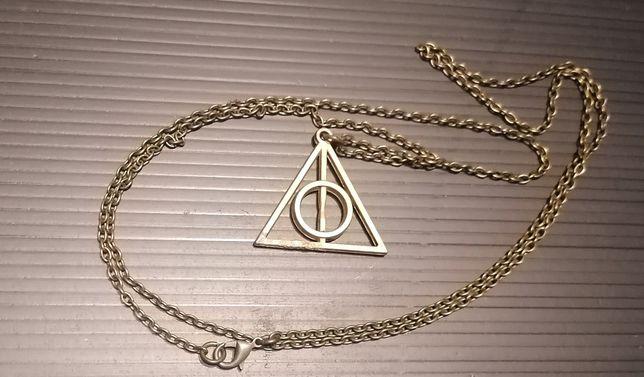 Harry Potter Insygnia śmierci naszyjnik łańcuszek wisiorek brązowy