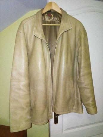 Продам шкіряну куртку, гірчичного кольору.