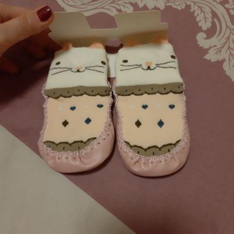 Новые носки детские с антискользящим ефектом