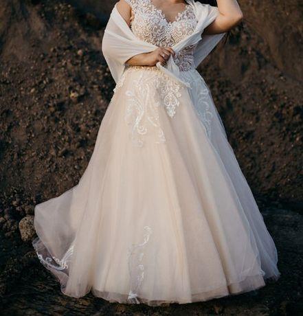 Przepiekna ksiezniczka Suknia ślubna 42-44