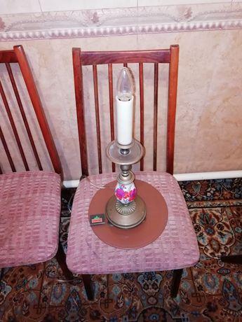 Старинная настольная лампа подсвешник.