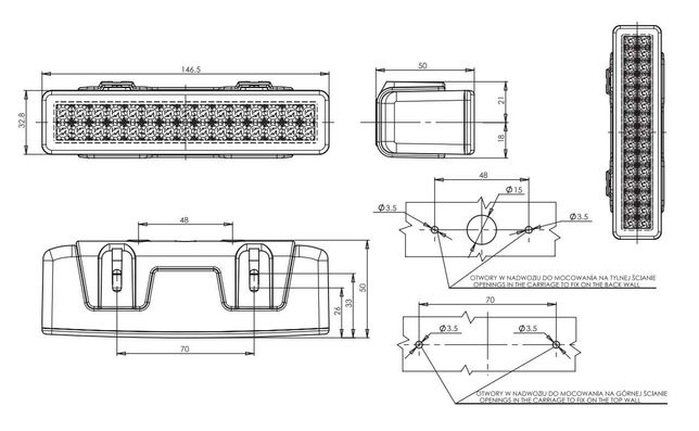 Projetor Led Linear FHK-706
