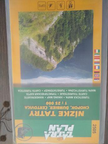 Mapa Niskie Tatry Słowacja Chopok i okolice