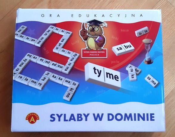 Gra edukacyjna Sowa Mądra Głowa - Sylaby w dominie