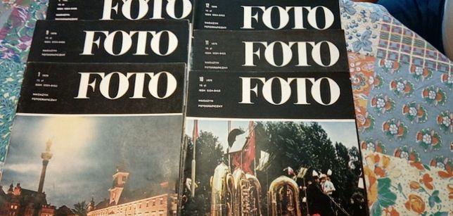 Foto. Magazyn fotograficzny 1979 do 1980 zestaw