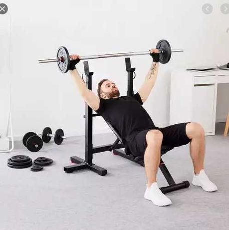 Набор силовой super mm - Скамья, стойки, штанга 115 кг