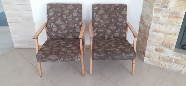Fotele z okresu PRL 2 sztuki