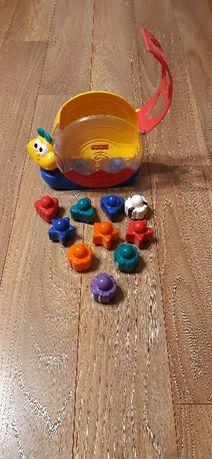 Zabawka żółw z klockami