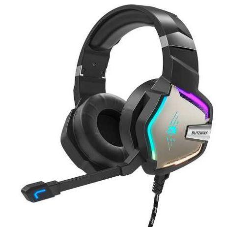 Fones Gaming RGB BlitzWolf Pro Som 7.1 USB (PC/PS4-5/XBOX)