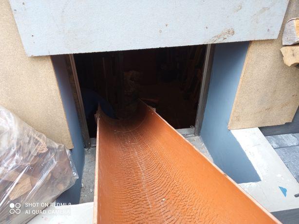 Rura PCV ślizg do zrzucania drewna