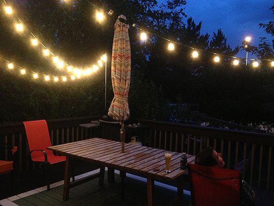 Girlanda ogrodowa 10m 10xE27 wodoodporna patio altana pub cafe ozdobna