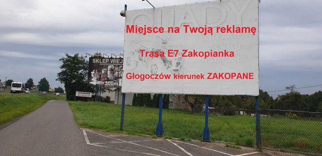 Billboard tablica reklamowa bilbord do wynajęcia Głogoczów Zakopianka