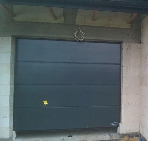 Brama garażowa segmentowa / 2500 x 2125 / RAL 7016 / automat +2 piloty