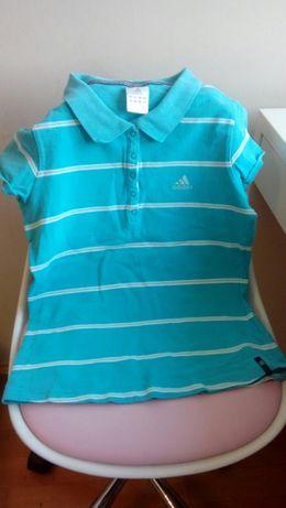 koszulka polo adidas rozmiar S dla dziewczynki