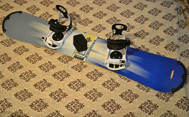 Сноуборд Burton 155 см с креплениями для сноуборда SP и бамперами