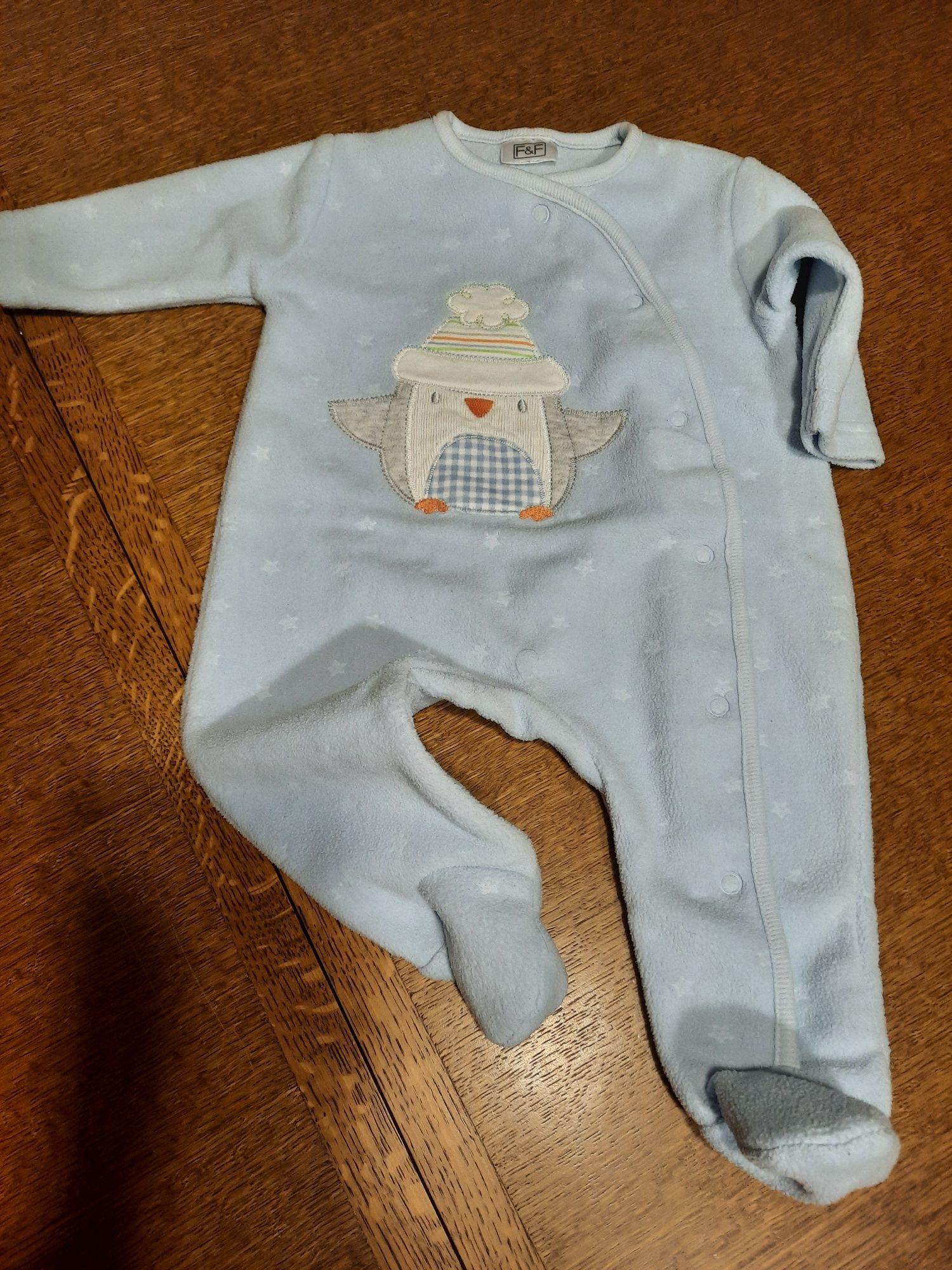 F&F pajac piżama j.nowy 0-3M r. 56-62 GRYZAK GRATIS