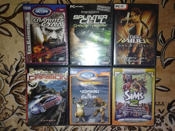 Игры на дисках для PC (ПК) все 6 дисков за 50 Руб.
