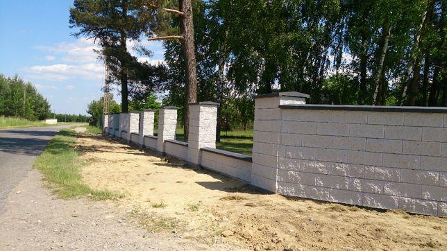 Montaż ogrodzeń gładkich ,łupanych,panelowych