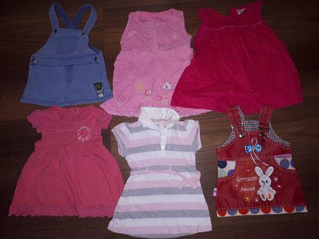 zestaw ubrań 68/74 paka 48szt. sukienka body bluza spodnie