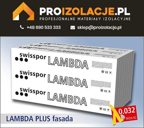 Styropian Grafitowy LAMBDA PLUS FASADA 0,032 / SWISSPOR w super cenie