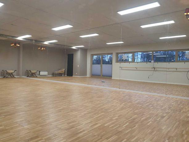 Sala wolne terminy70m2 taneczna LUSTRA PARKIET open 7dni w tyg. Fitnes