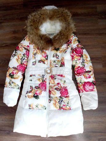 Зимняя куртка пальто для девочки Kiko 158