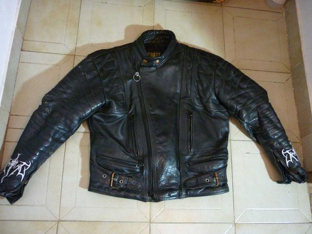 "Casaco motard "" Motokit "", Kron, 100% pele genuína"