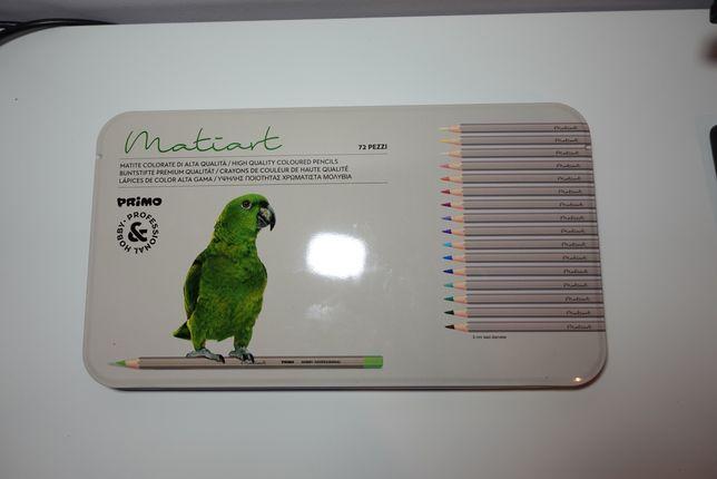 Kredki Matiart 72 kolory - lekkie zużycie