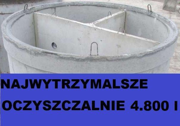 zbiornik betonowy 4800 l na oczyszczalnię ścieków oczyszczalnia
