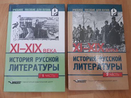 Historia literatury rosyjskiej w 2 tomach XI-XIX wiek po rosyjsku
