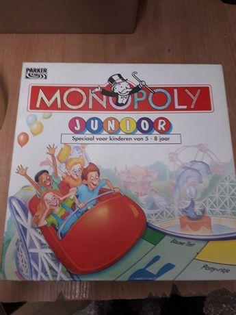 Dwie gry planszowe monopoly junior i monopoly