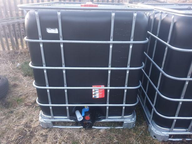 Mauzer mauser 1000l zbiornik czarny beczka na deszczówkę transport