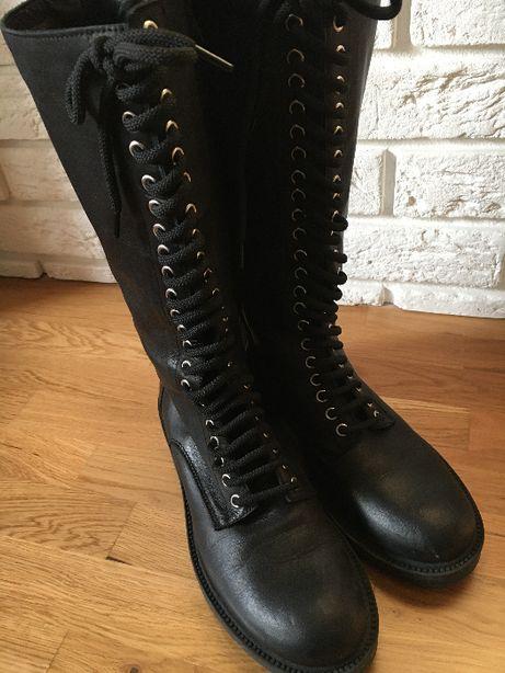 Buty oficerki VENEZIA skórzane
