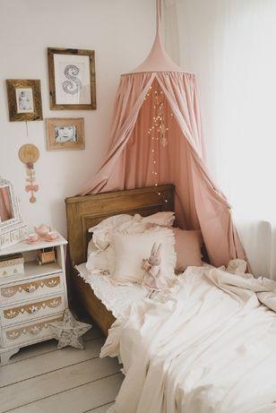 Baldachim bawełniany pastelowy brudny róż jak NOWY jak Cotton Sweets