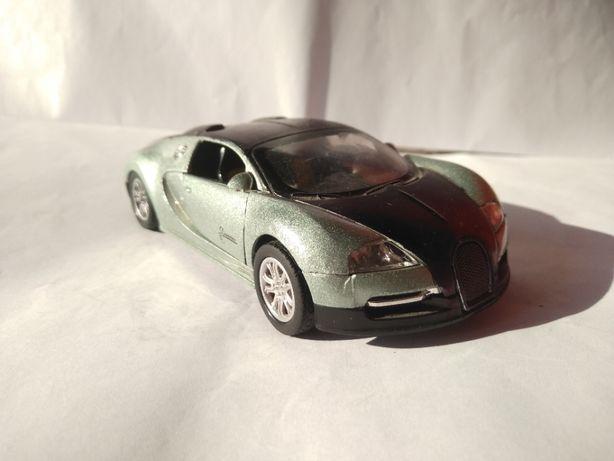 Model Metalowy Bugatti Veyron świeci światłami napęd otwierane drzwi