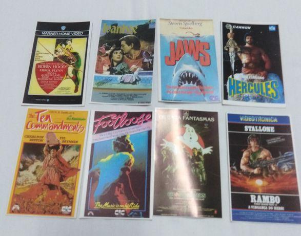 Calendários capas de vídeos de filmes.