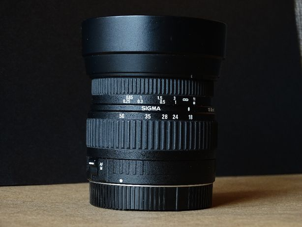 Sigma 18-50 mm f/3.5-5.6 DC do Canon EF-S