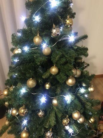 Luzes para Arvore de Natal LED como novas