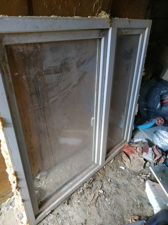 Okno pcv dwuskrzydłowe białe 143x146