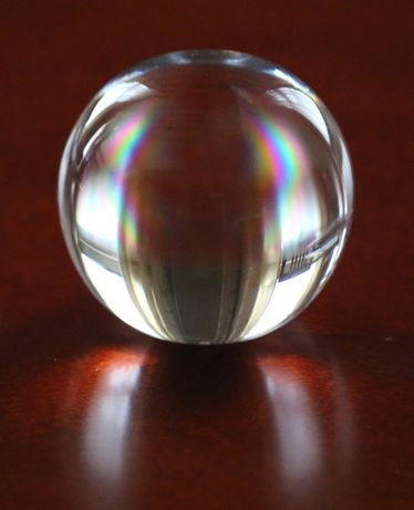 Piękna kula ze szkła, szklana kula, duża 10 cm